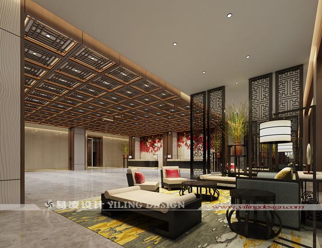 桐城天红酒店设计(四星级)-酒店大堂设计
